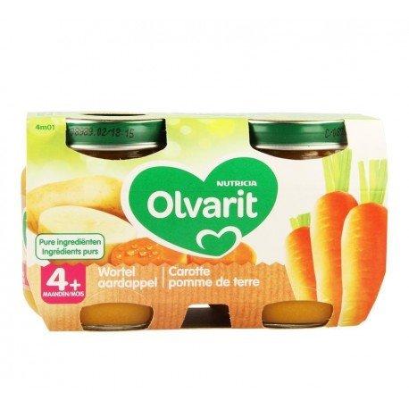 Olvarit carotte pomme de terre 2x125g 4m01