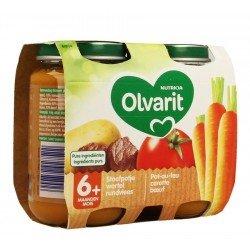 Olvarit pot au feu carotte boeuf 2x200g 6m04