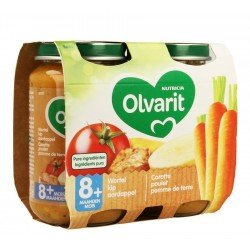Olvarit carotte poulet puree    2x200g 8m01