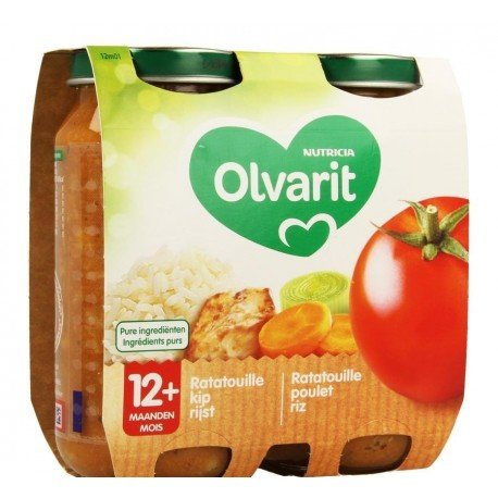 Olvarit ratatouille poulet riz 2x250g 12m01