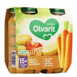Olvarit carotte dinde puree 2x250g 15m00