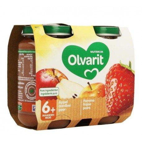 Olvarit fruit pomme fraise    2x200g 6m61