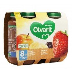 Olvarit fruit pomme fraise cassis 2x200g 8m60