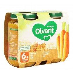 Olvarit carotte poulet riz    2x200g