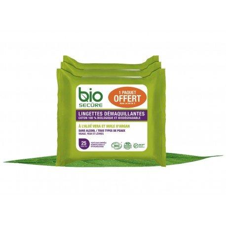 Bio Secure Lingettes Démaq. 3x25 2+1 promo