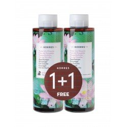 Korres kb gel douche waterlily 2x250ml 1+1 promo