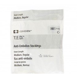 T.e.d. -kendall bas anti-embolie m normal blanc/blanc k71151