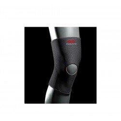 Knee support - genouillère avec dégagement rotulien black/scarlet l 402r-bs