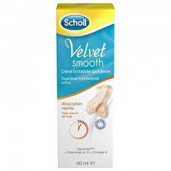 Scholl Velvet Smooth Daily Moisturiser Crème Hydratante tube 60ml