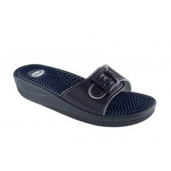Scholl New Massage Leasyn-w Navy Blue 39