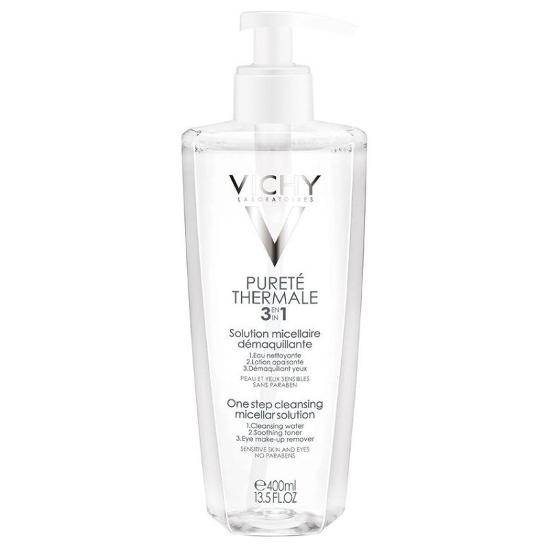 vichy puret thermale lotion micellaire d maquillante 400 ml. Black Bedroom Furniture Sets. Home Design Ideas