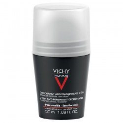 Vichy Homme Déodorant anti-transpirant 72 heures bille 50ml
