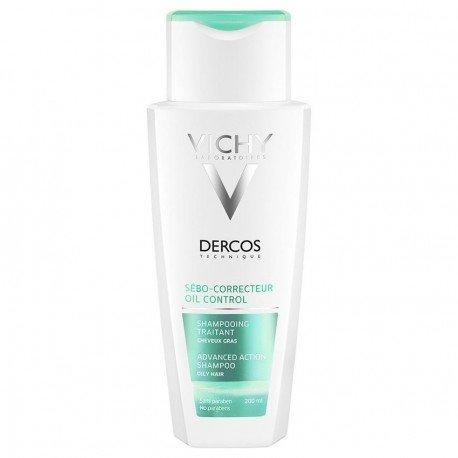 Vichy Dercos Shampoing Sébo Correcteur Cheveux gras 200 ml