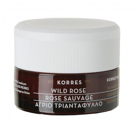 Korres Face Rose sauvage Creme hydratation 24h Peau normale a sèche 40ml