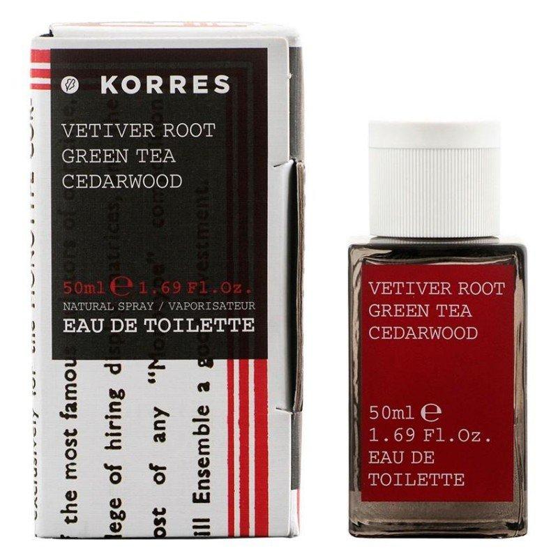 korres body parfum racine de v tiver homme 50ml pharmasimple. Black Bedroom Furniture Sets. Home Design Ideas