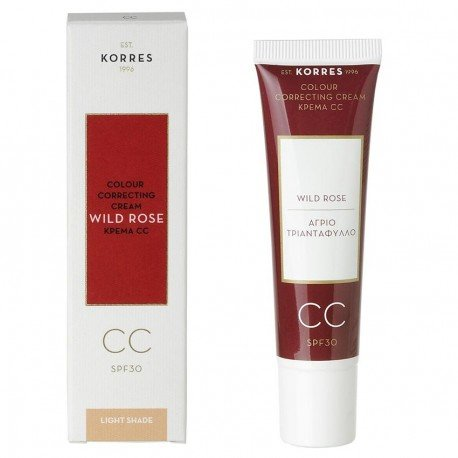 Korres Face Rose Sauvage CC crème SPF30 Light 30ml
