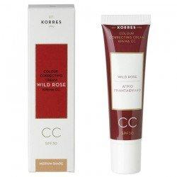 Korres Face Rose Sauvage CC crème SPF30 medium 30ml