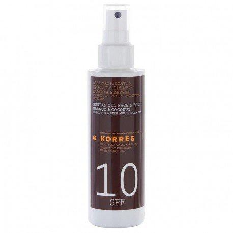 Korres Solaire Huile de bronzage Noix et noix de coco SPF 10 150ml