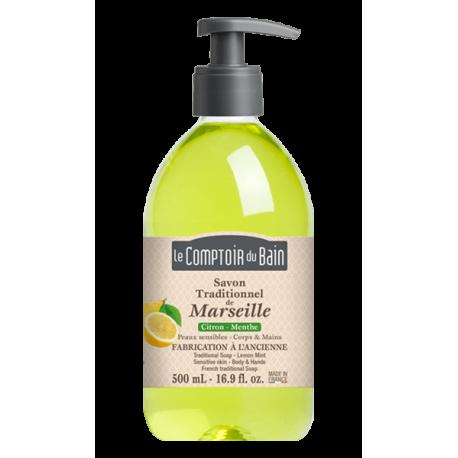 Le comptoir du bain savon de marseille citron menthe 500ml