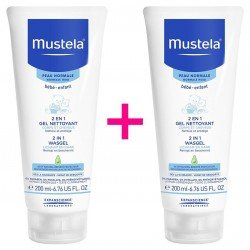Mustela Duopack Bébé 2en1 gel nettoyant corps & cheveux Peau Normale 200ml