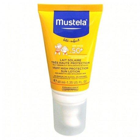 Mustela Solaire Lait Bébé très Haute Protection 50+ Visage 40ml