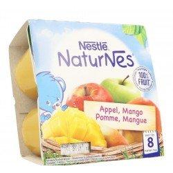Naturnes pomme mangue pot 4x100g
