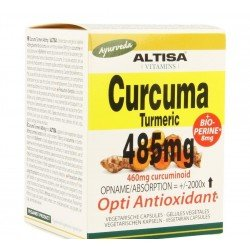 Altisa curcuma extr. 485mg + piperine v-caps 50