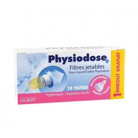 Physiodose filtre jetable mouche bebe 10