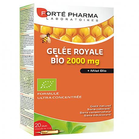 Forte Pharma Gelée royale 2000mg bio 20 ampoules