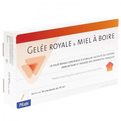 Pileje Gelée Royale & Miel BIO buvable unidose 10x10ml