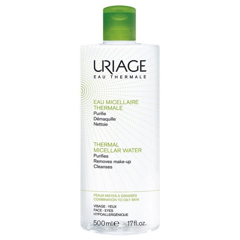 uriage eau micellaire thermale lotion p mixtes grasses 500ml. Black Bedroom Furniture Sets. Home Design Ideas