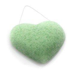 DBS Eponge Konjac coeur argile verte - Peaux mixtes à tendance grasses