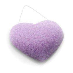 DBS Eponge Konjac coeur violette - Peaux irritées et sensibles