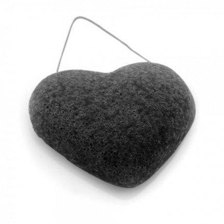 DBS Eponge Konjac cœur charbon bambou - Peaux grasses et acnéiques