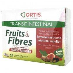 Ortis Fruits & Fibres Transit Régulier 24 cubes à mâcher