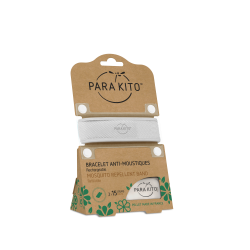 Parakito Bracelet anti-moustiques blanc