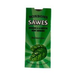 Sawes Bonbon Menthe Sans sucre 10 Pièces