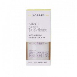 Korres Nail Base Coat Optical Brightener Myrrhe et Huile de Citron 10ml