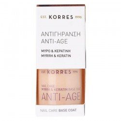 Korres Nail Base Coat Anti-Âge Anti-Stries Myrrhe & Keratine 10ml