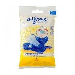 Difrax Lingettes de Nettoyage Sucettes 25 pièces