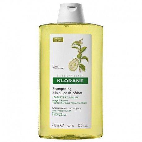 Klorane Shampooing Cedrat brillance légèreté et vitalité 400ml