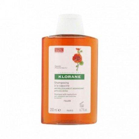 Klorane Shampooing antipelliculaire capucine pellicules sèches 200ml