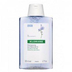 Klorane Shampooing volume et texture fibre de Lin 200ml