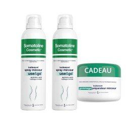Somatoline Pack Spray Minceur Use&Go 2x200ml + Gommage 300gr