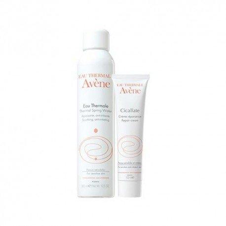 Avene Pack Cicalfate crème réparatrice anti-bacterienne tube 100ml + Eau thermale 300ml
