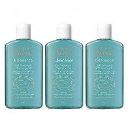 Avene Trio Pack Cleanance gel nettoyant sans savon flacon 200ml