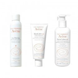 Avene Pack eau thermale spray 300ml + Crème relipidante 200ml + Huile lavante 400ml