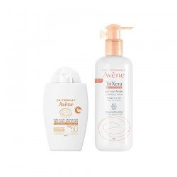 Avene Pack Solaire Trixera Nutrition Lait Nutrifluide fl p 400ml + Fluide Minéral SPF50+ 40ml