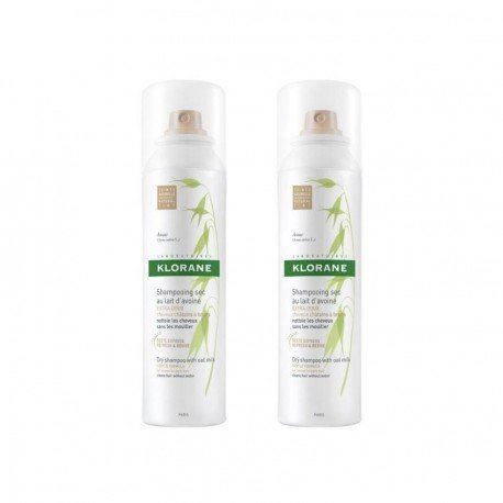 Klorane DUO PACK Shampooing sec avoine teinté spray 150ml