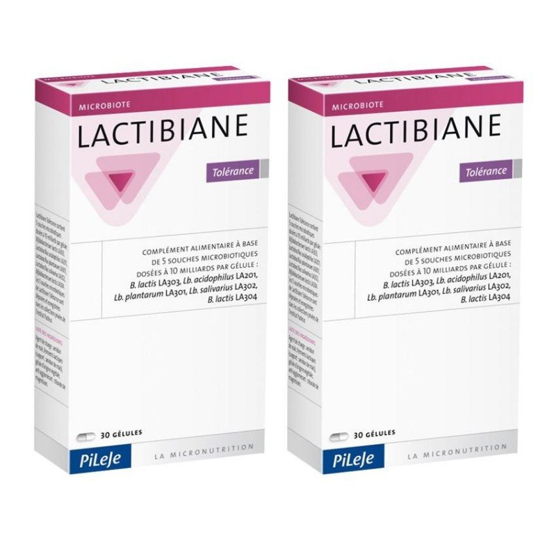Pileje Lactibiane Tolérance Duo Pack 2x 30 gélules